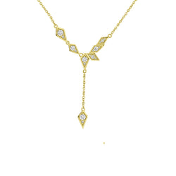 Y NECKLACE PAVE