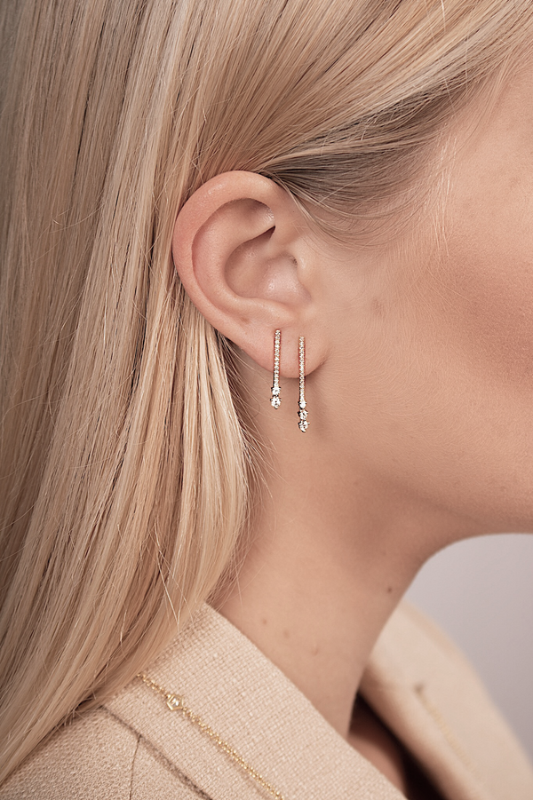 S'n'S Double Drop Bar Earrings
