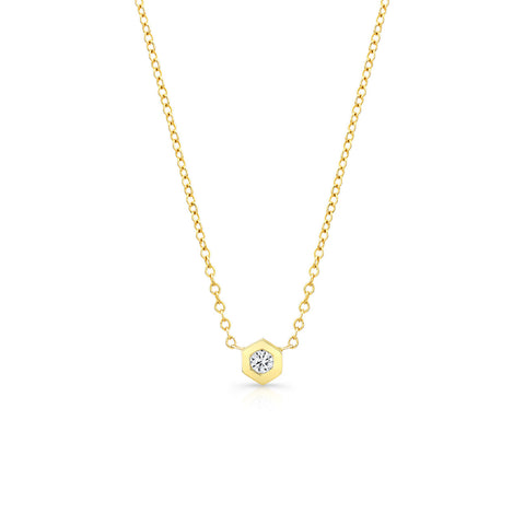 MINI BOLT SOLITAIRE NECKLACE