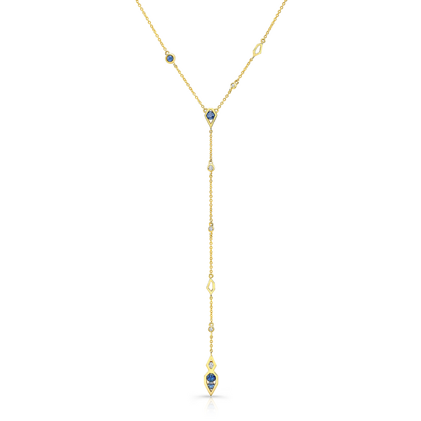 Paradise Lariet Diamond and Sapphire Necklace