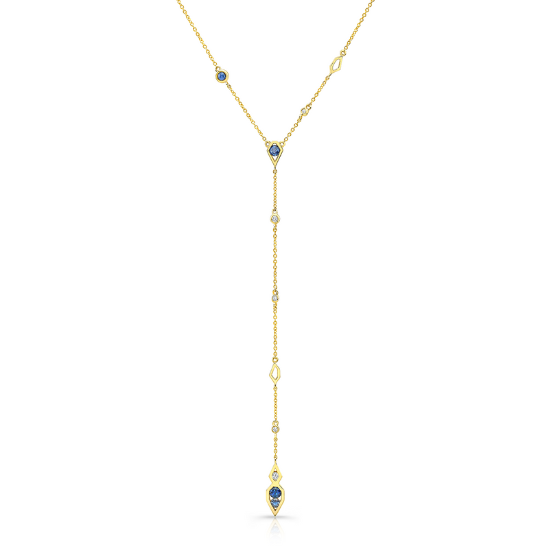 Paradise Lariat Diamond and Sapphire Necklace
