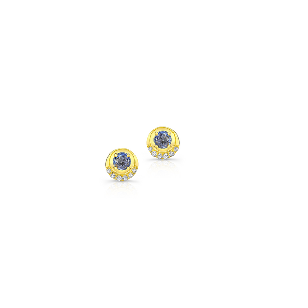 Blue Sapphire Bubbly Studs