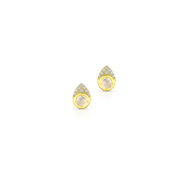MOONSTONE PEAR SHAPED STUDS