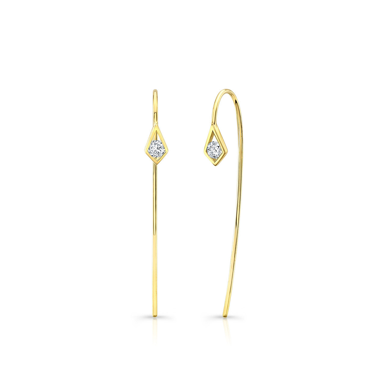 PARADISE POINT DIAMOND WIRE EARRING – RONHAMI