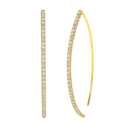 Wishbone Diamond Hoop Earring