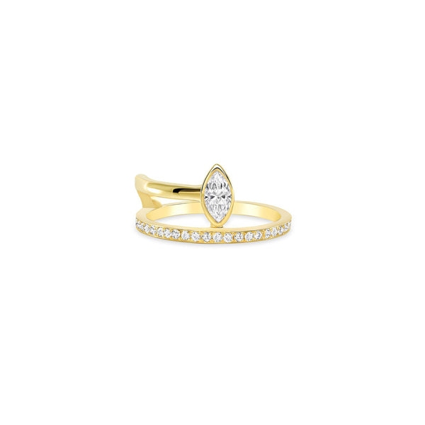 Fancy Diamond Marquise Wrap Ring