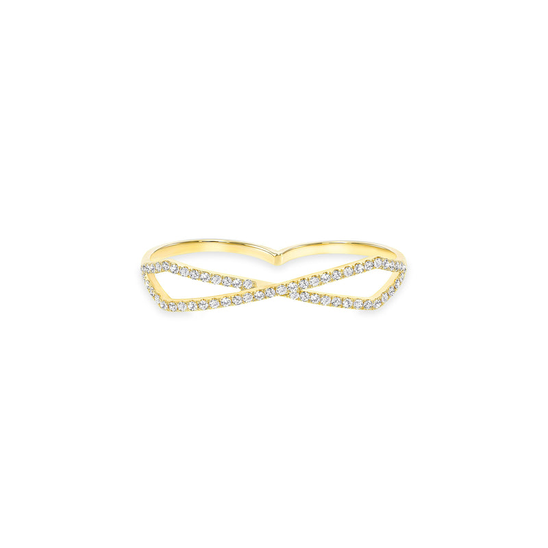 Double Finger Criss Cross Ring