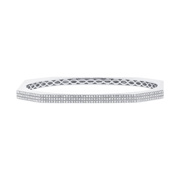 3 Row Pave Bangle