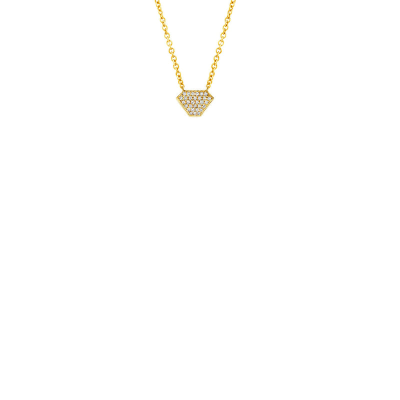 SOLITAIRE SHIELD NECKLACE