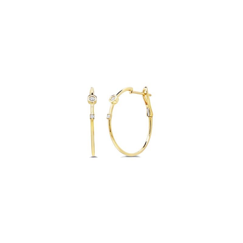 Love Bolt Diamond Accent Hoops