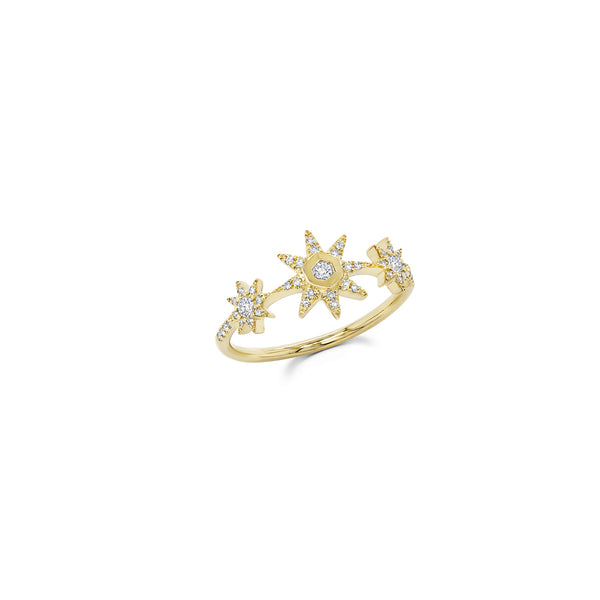 Starstruck Three Star Ring