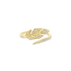 Diamond Pave Leaf Wrap Ring