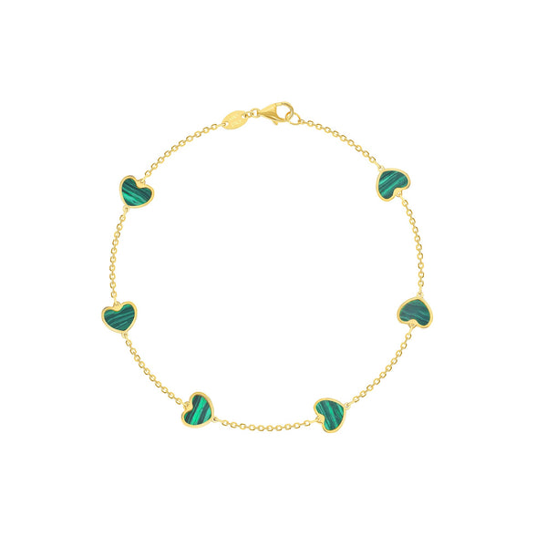Malachite Heart Bracelet