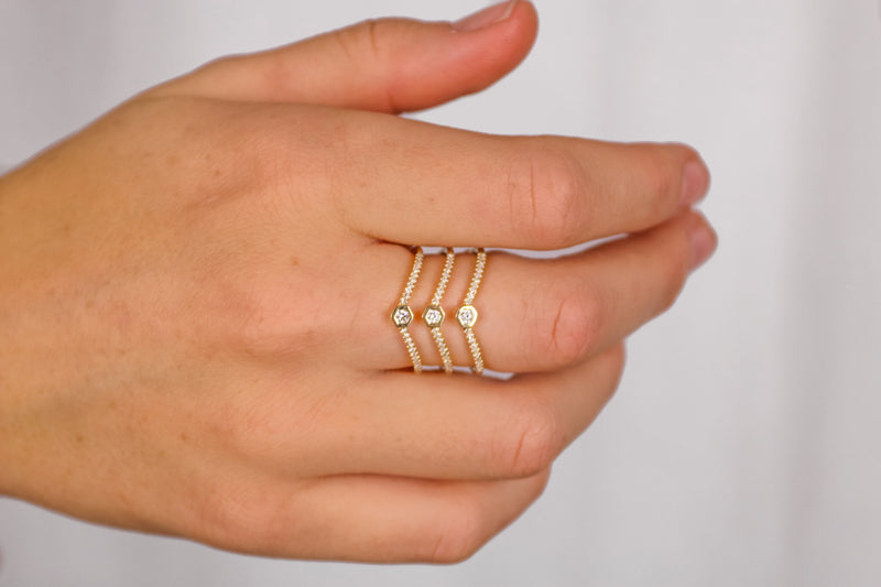 Love Bolt Triplex Ring