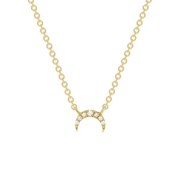 DIAMOND CRESCENT MOON NECKLACE