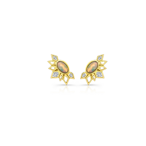 DIAMOND OPAL EFFLORESCENCE STUDS
