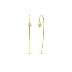 Paradise Point Diamond Wire Earrings