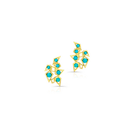 Turquoise Blooming Studs