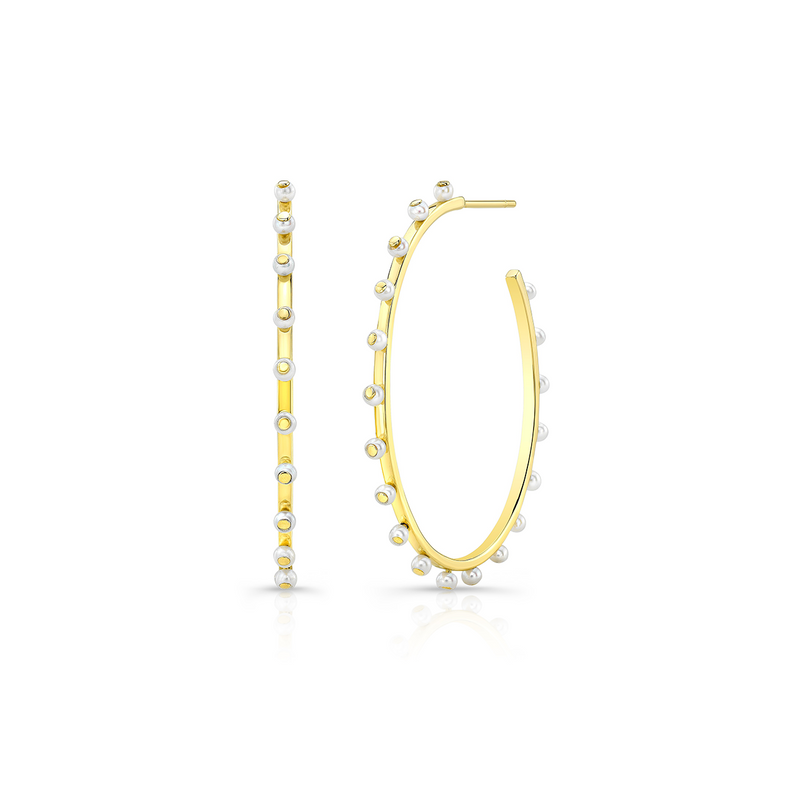 Pearl Bubbly Hoops