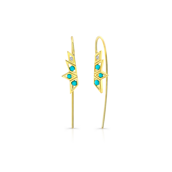 Paradise Turquoise Wire Earrings