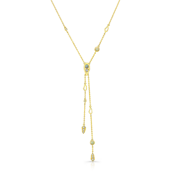 Paradise Opal Double Drop Lariet Necklace
