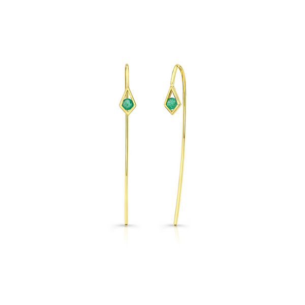 PARADISE POINT EMERALD WIRE EARRINGS