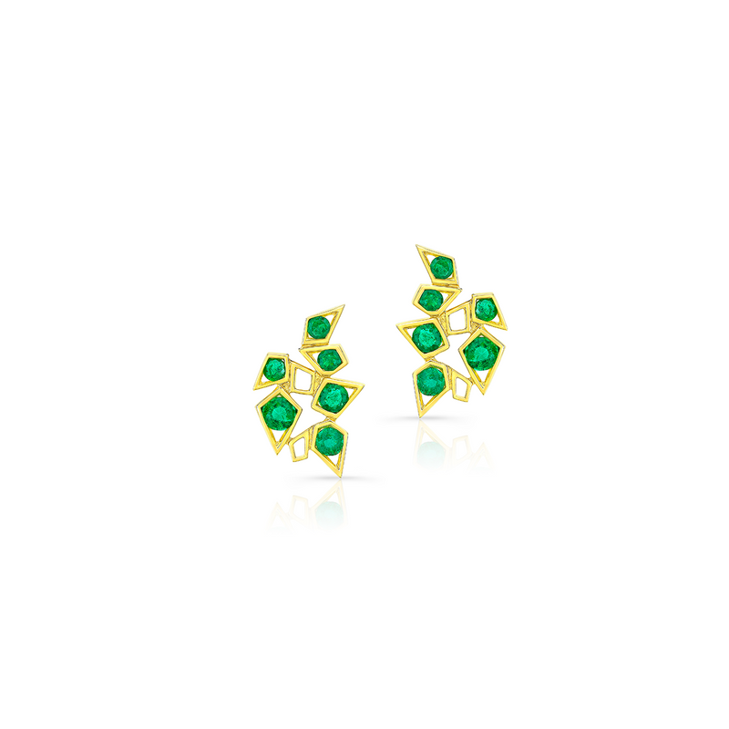 Emerald Blooming Studs