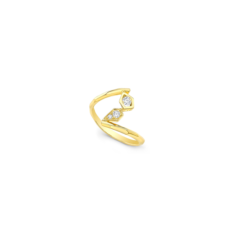 Paradise Diamond Twist Ring