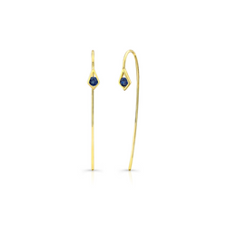 PARADISE POINT BLUE SAPPHIRE WIRE EARRING