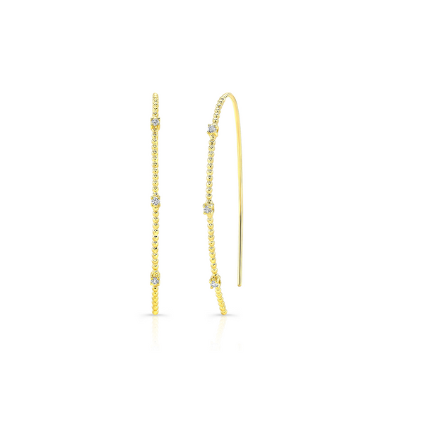 Diamond Bubbly Wishbone Earrings