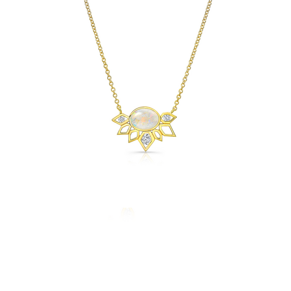DIAMOND OPAL EFFLORESSENCE NECKLACE