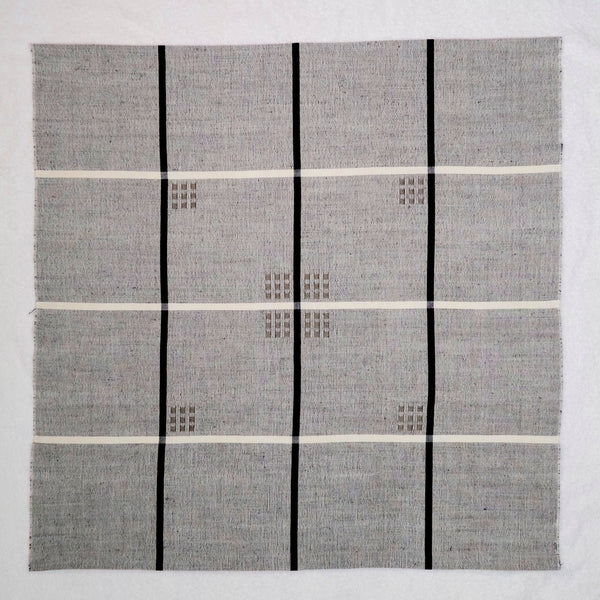 """Kaffeduk"" Table Square in Cotton and Linen - Nuit"