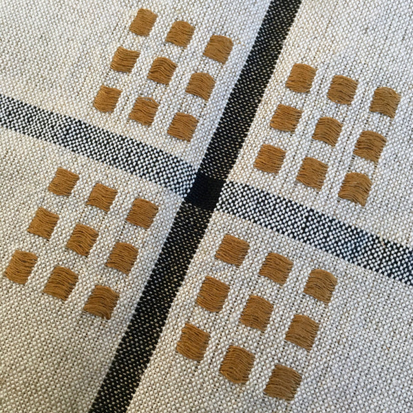 """Kaffeduk"" Table Square in Cotton and Linen - Crépuscule"
