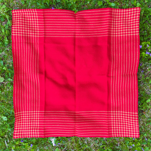 Prosperity Table Square in Red & Gold