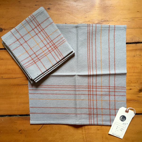 Asymmetric Silver Table Napkins (4)