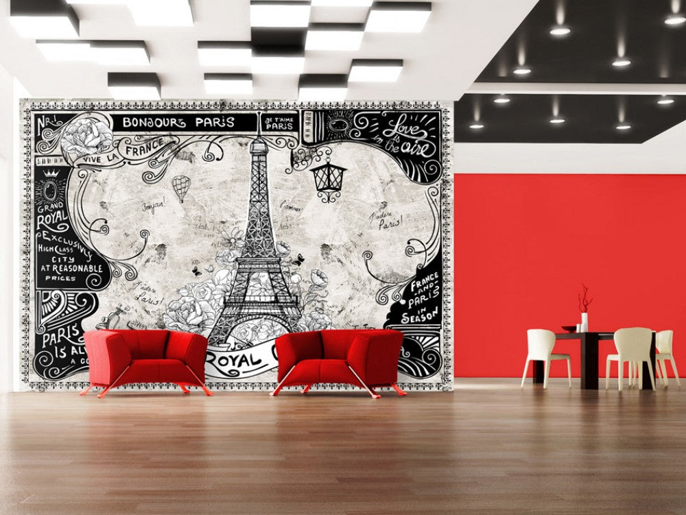 Black And White Photo Wallpapers With Paris Tapetenshop Lv