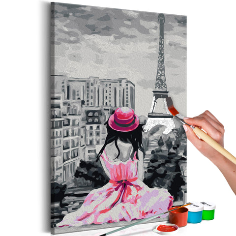 DIY glezna uz audekla - Paris - Eiffel Tower View 40x60 cm