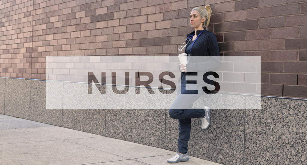 Alegria Styles for nurses - model wears Duette Marbelized professional shoe