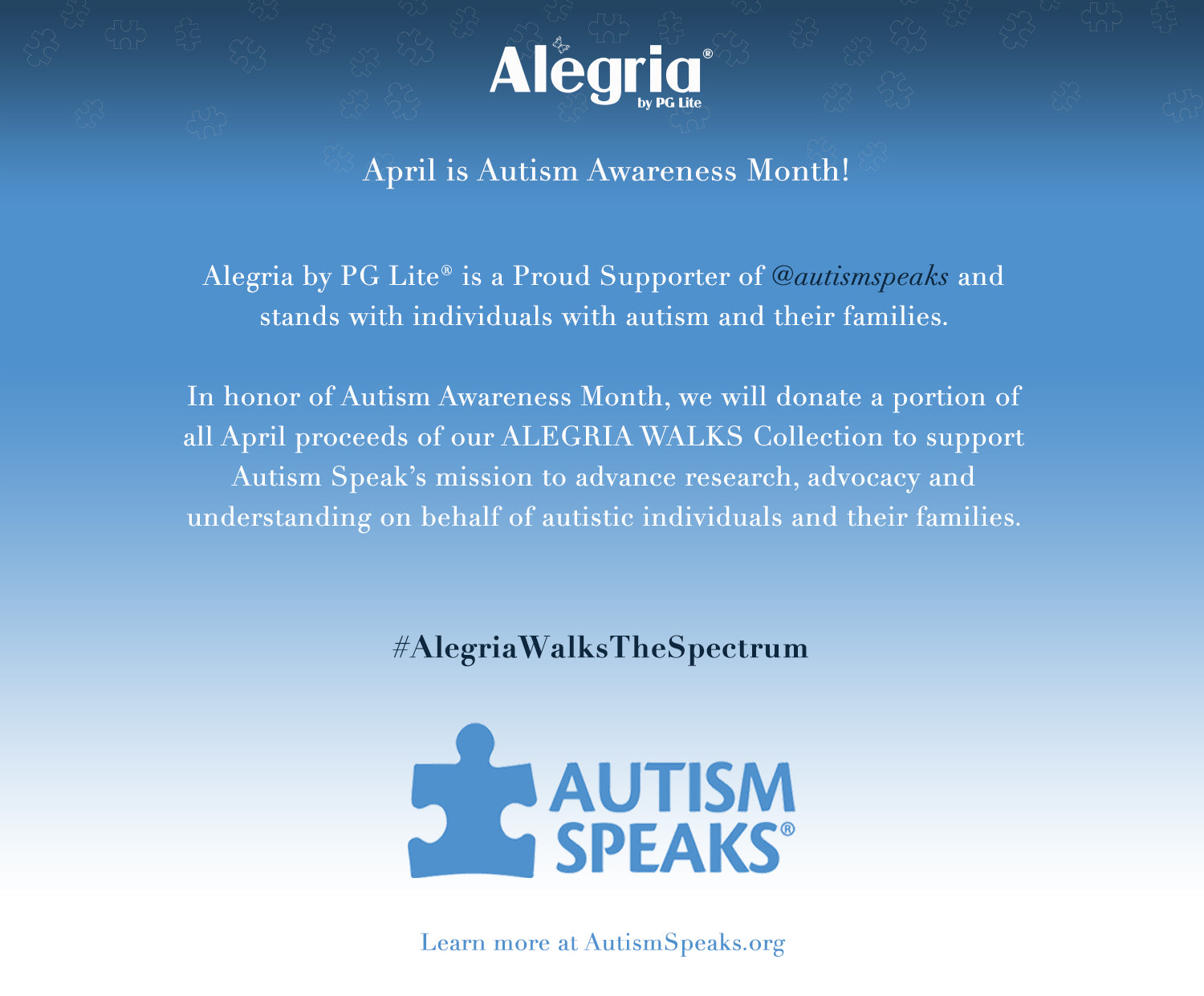Autism Speaks Updates Their Mission >> Autism Awareness Month 2019 Alegria Shoes