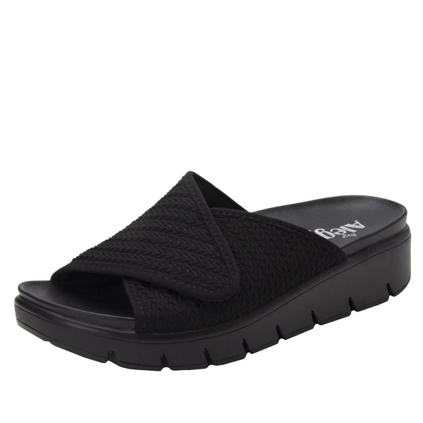 Airie Braided Black sandal with Dreamfit technology and heritage sport footbed - AIR-111_S1