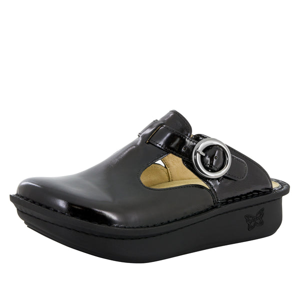 Classic Black Waxy Shoe - Alegria Shoes