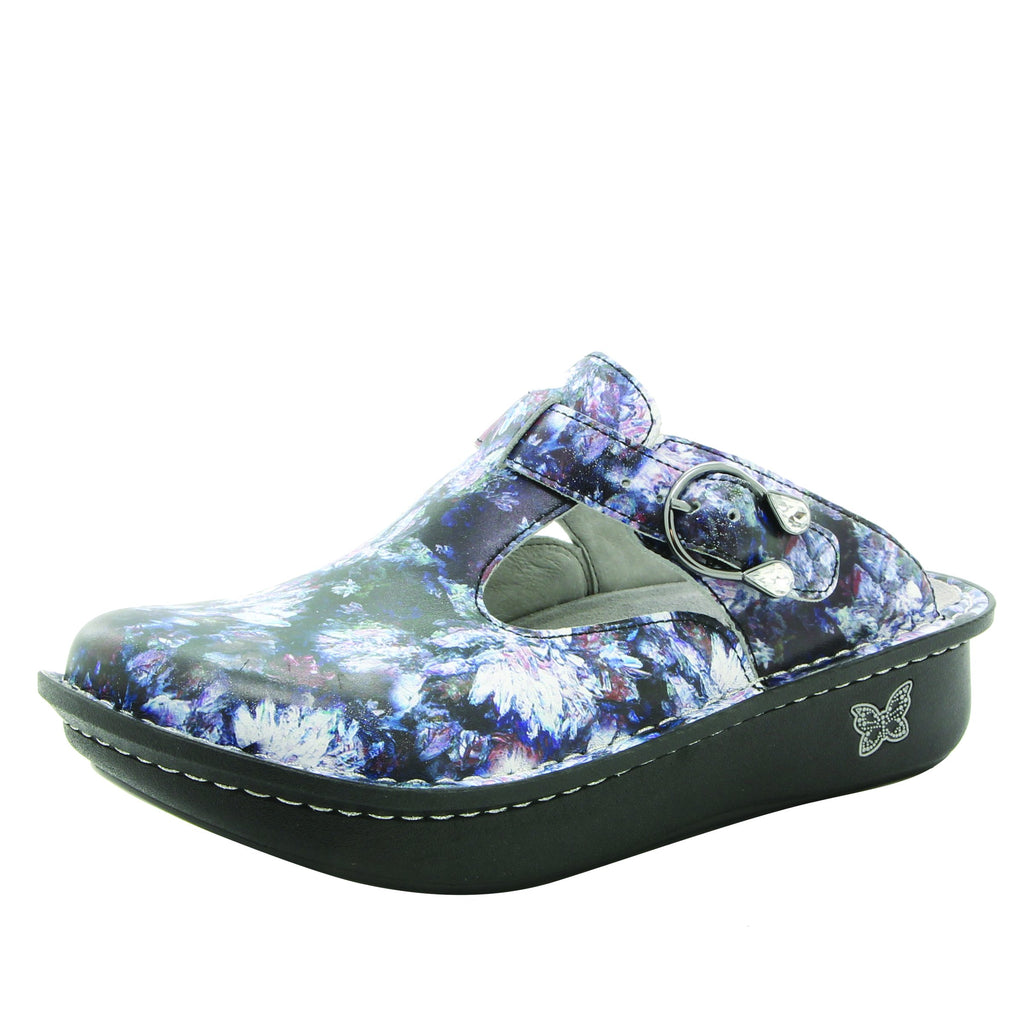 Classic Mums the Word Open Back Clog on Classic Rocker outsole - ALG-167_S1