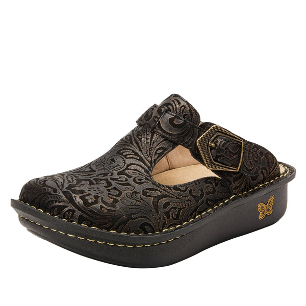 Classic Bronze Swirl open back clog on classic rocker outsole - ALG-179_S1