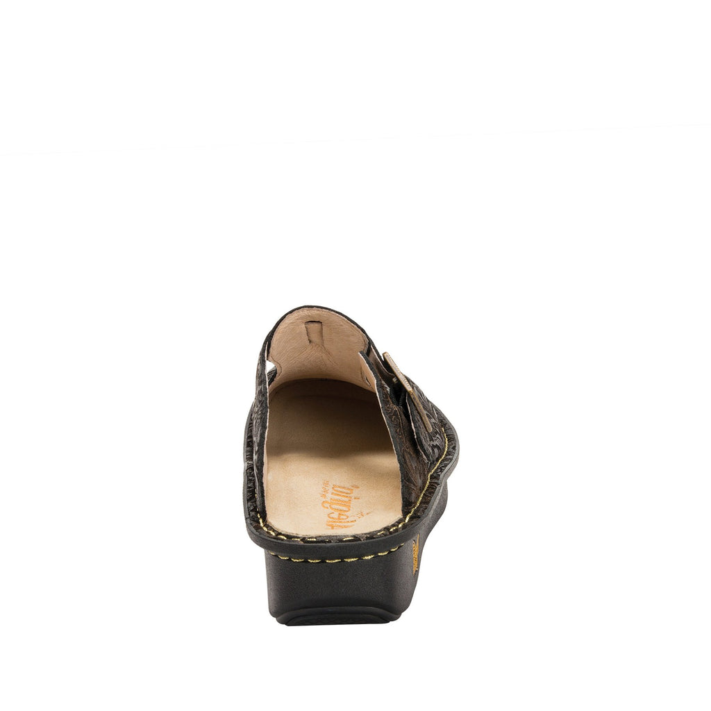 Classic Bronze Swirl open back clog on classic rocker outsole - ALG-179_S3 (2210089533494)