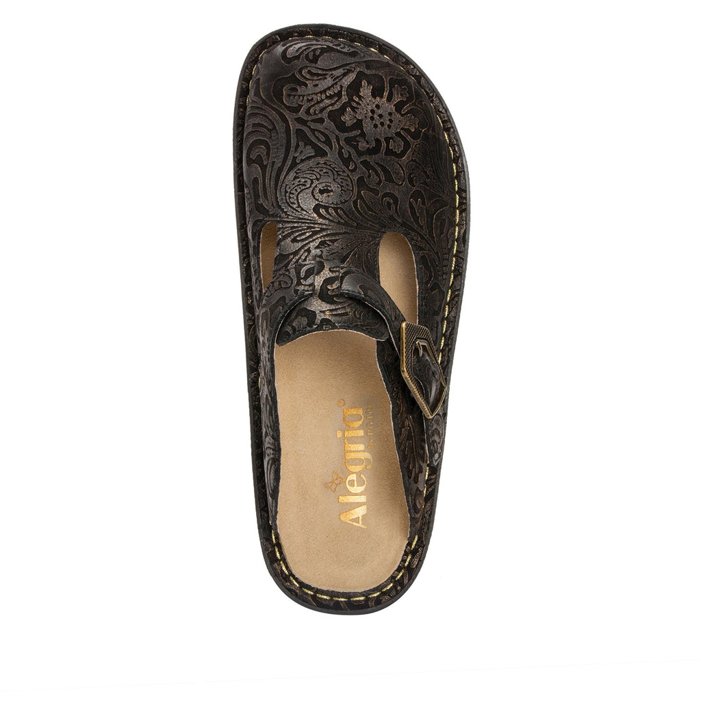 Classic Bronze Swirl open back clog on classic rocker outsole - ALG-179_S4 (2210089533494)
