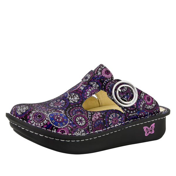 Classic Spiro Purple Clog - Alegria Shoes - 1