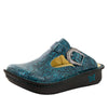 Classic Teal Tooled Clog - Alegria Shoes - 1