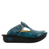 Classic Teal Tooled Clog - Alegria Shoes - 2