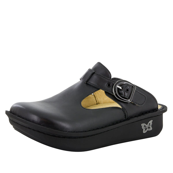 Classic Black Nappa Shoe - Alegria Shoes