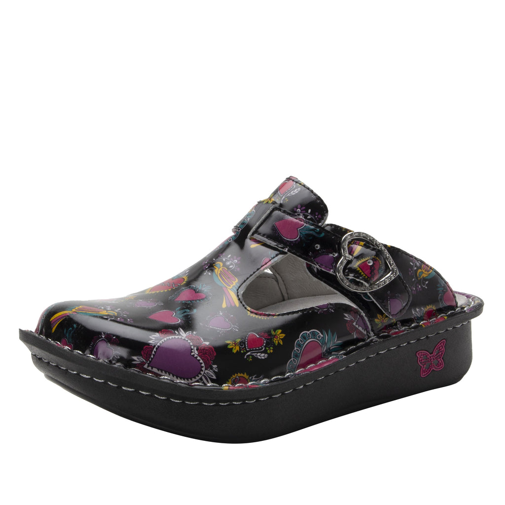 Classic Frida open back clog on classic rocker outsole - ALG-7704_S1